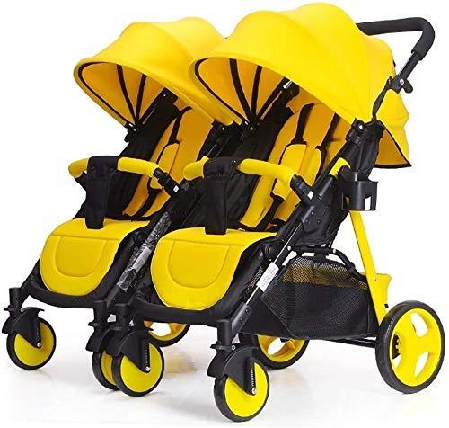NLRHH Cochecito de bebé Carruaje recién Nacido Infantil Twin Baby Stroller Desmontable Doble Trolley Puede Sentarse y acostarse Ligero Plegable Carro de bebé Peng