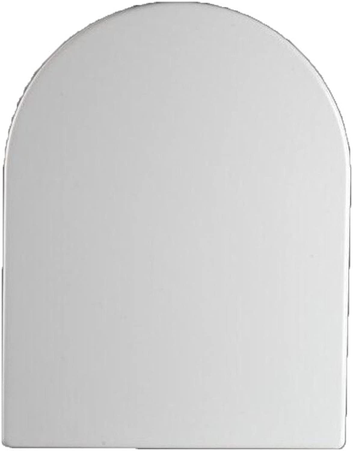 Toilet lid Universal Toilet Seat U-shaped Step-down Mute Antibacterial Top-loading, White-42-4936cm