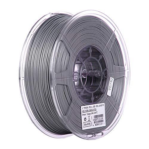 PLA Filament 1.75mm, 3D Printer 1kg (2.2lb), FDM Printer Material-Silver