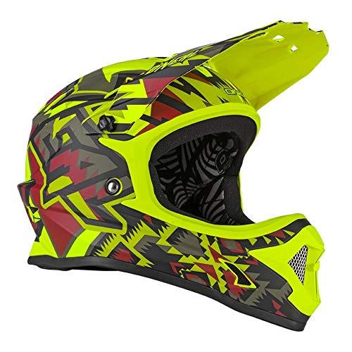 O\'NEAL | Mountainbike-Helm | MTB Downhill | Sicherheitsnorm EN1078, Ventilationsöffnungen für Luftstrom & Kühlung, ABS Außenschale | Backflip Helmet Muerta| Erwachsene | Olive Grün | Größe L