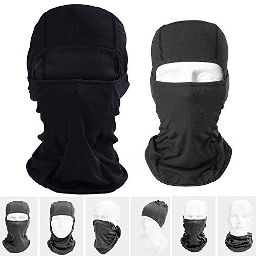 Lezed bivakmuts | fiets motorfiets gemaskerd kappen | outdoor rijden | stormmasker motormasker Style B zwart