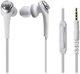 Audio Technica SOLID BASS for iPod/iPhone/iPad Inner Ear Headphones White ATH-CKS550i WH