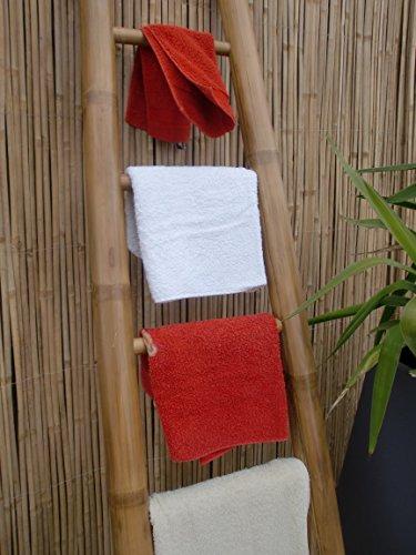 Bambusleiter Leiter Handtuchhalter Bambus 200 cm x 50/36 cm