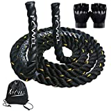 FLWLL Heavy Jump Rope Workout -9.8 ft Weighted Skipping Rope Battle Ropes for Men Women Gym Ropes Heavy Cardio Fitness,Weight Loss,Endurance Training