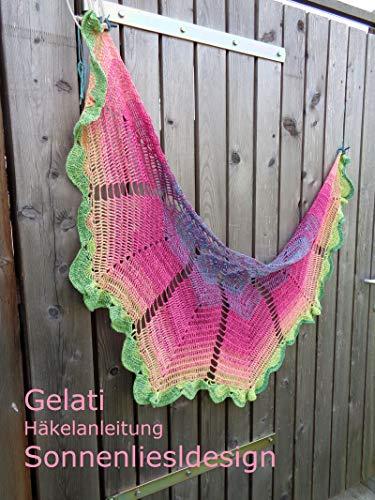 Gelati: Häkelanleitung für ein halbrundes Tuch