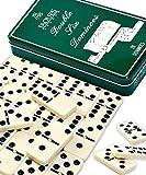 Jaques of London Dominó | Juego de dominó de calidad para adultos | Juego de dominó premium para niños | Dominos de lujo | Mejor Domino | Conjunto de dominó certificado | Desde 1795