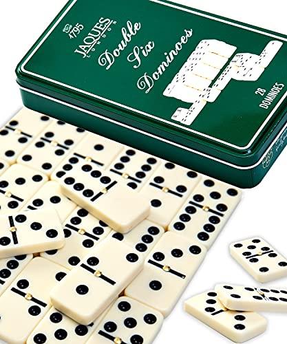 Jaques of London Dominó   Juego de dominó de calidad para adultos   Juego de dominó premium para niños   Dominos de lujo   Mejor Domino   Conjunto de dominó certificado   Desde 1795