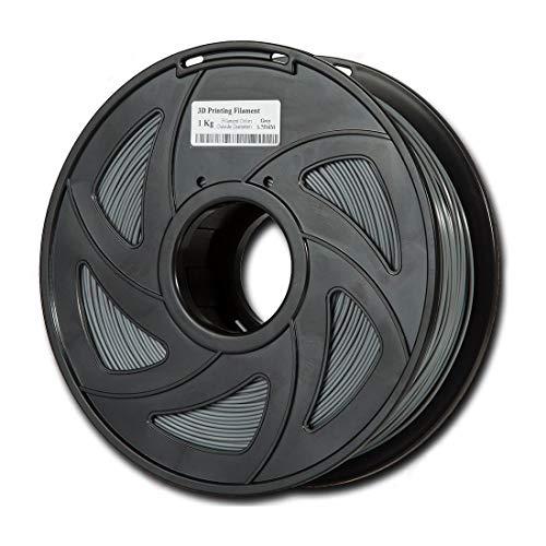 Auartmetion 1pc 3D-Drucker 1KG Drucken Filament 1.75mm ABS, 1 Rolle (Farbe : Grau)
