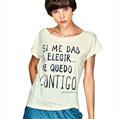 Dolores Promesas Pv18 1070 Camiseta, Blanco (Crudo), Medium(Tamaño del Fabricante:M) para Mujer