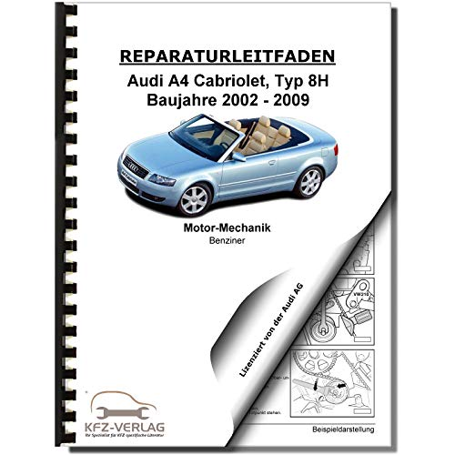 Audi A4 Cabriolet (02-08) 6 Zyl 2,4l Benzinmotor V6 163-170PS Reparaturanleitung