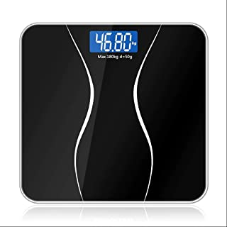 SHHDD Smart Weight Scale Bathroom Floor Scale Glass Intelligent Electronic Digital Body Scale Weight Loss LCD Display 180K...