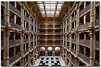 アメリカのジョージピーバディー図書館大人のボルチモアパズル子供1000ピース木製パズルギフト家族の装飾特別な旅行のお土産
