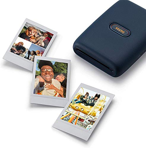 instax Link Smartphone Printer, Dark Denim & Mini Instant Film, 5X 10 Blatt (50 Blatt), Weiß