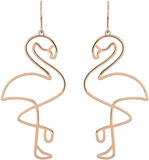 Qinlee Geometrie Ohrringe Minimalismus Ohrhänger Übertrieben Mode Ohrschmuck Hochzeiten Bankette Party Schmuck für Damen Mädchen (Flamingo)
