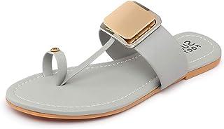 Myra Women's Embellished Toe-ring Flats - MS1268C