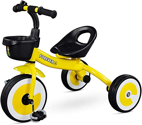 diseños exclusivos DT DT DT Triciclo para Niños 2-3-5 años Bebé Bicicleta Niño Carro Ligero Juguete Coche Toddler Bicycle Lanzamiento Ejercicio Saludable (Color   amarillo)  tienda de bajo costo