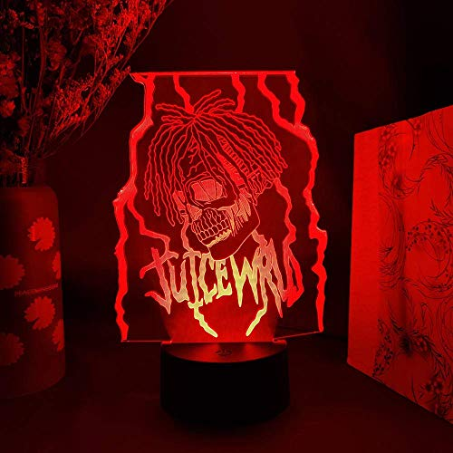 Adventskalender 20 JUICE WRLD RIP Hip Hop 3D-Folie Otaku Harajuku Farbwechselnde LED-Leuchten Acrylbeleuchtung RGB-Beleuchtung Raumdekoration