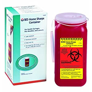 buy  Bd Sharps Container 1.4 Quart Home, 1 Count (Pack ... Diabetes Care