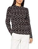 blue seven Damen T-Shirt, Stehkragen Camiseta, 999 Negro Orig, L para Mujer