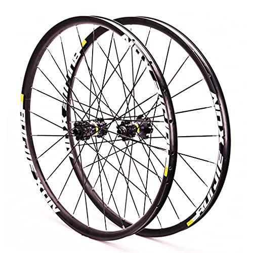 RUJIXU MTB Rueda Bicicleta 26'27,5' 29 Pulgadas Doble Pared de Rueda Rueda De Bicicleta Rodamientos Sellados Eje Pasante Freno Disco 8-11 Velocidad Aleación de Aluminio hub (Size : 27.5inch)