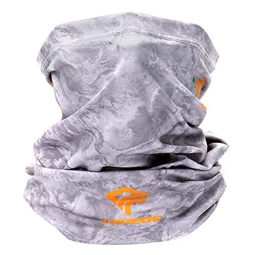 TOREGE Neck Gaiter Face Mask, Neck Gaiter with Lycra Fabric UV-Protection Gator Mask Scarf for Men & Women (Off-White)
