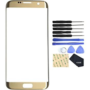VEKIR Glass Repair Screen for Samsung Galaxy S7 Edge(Gold)