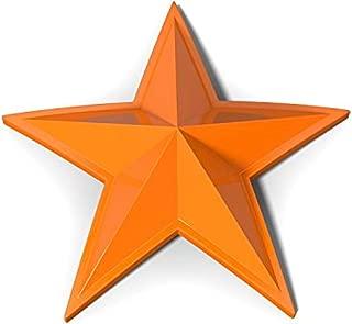 Orange XD Series Center Star Emblems For All Rockstar Wheels-Pack of 5