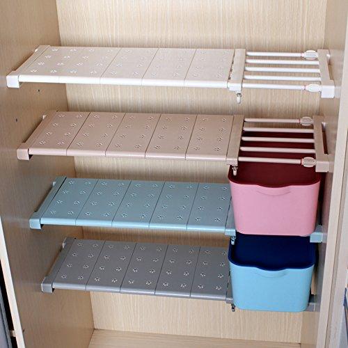 aevel telescópico de almacenamiento estante Armario de uñas gratis para Kithchen, Caddy, armario de baño, gabinetes, estantería Prop de recolección de compartimento extensible 56 a 95 cm ajustable