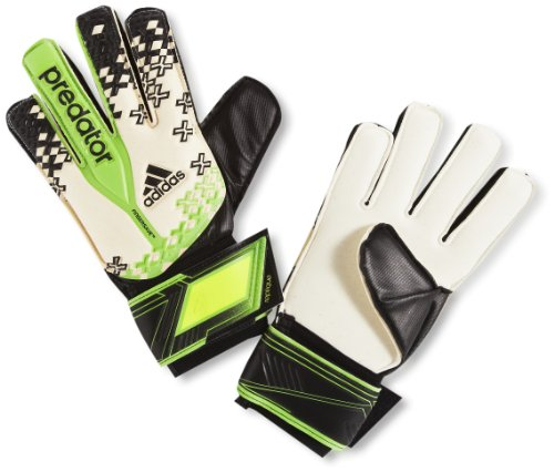 adidas Torwarthandschuh Predator Fingersave Replique, Weiß/Schwarz/Grün/Gelb, 8, G73420