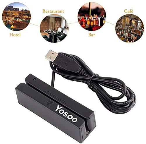 Yosoo Msr90 - Mini Tarjeta crédito USB 3 Pistas triples