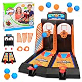 Goefly Table Top Mini Basketball Basket Throwing Game, Baloncesto de Escritorio Mini Finger Basket Toy Sports niños Juegos de Mesa Doble Play interacción Juguetes