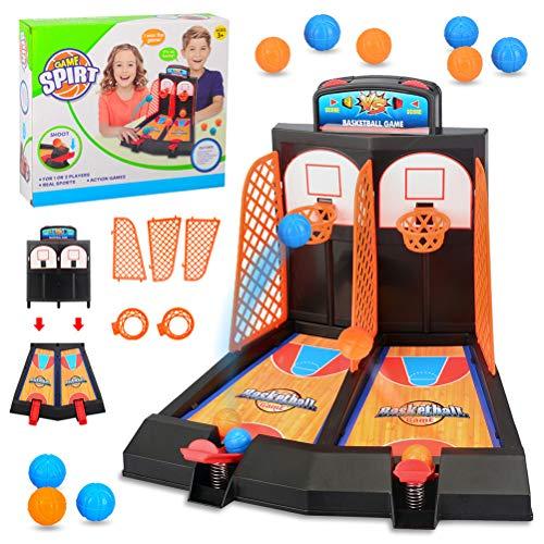 Ailyoo Mesa de Baloncesto Mini Dedo Canasta de Juguete Deportes para niños Juegos de Mesa Juego Doble Interacción Juguete/Pinball Baloncesto Mini Dedo Mini Mesa de Baloncesto