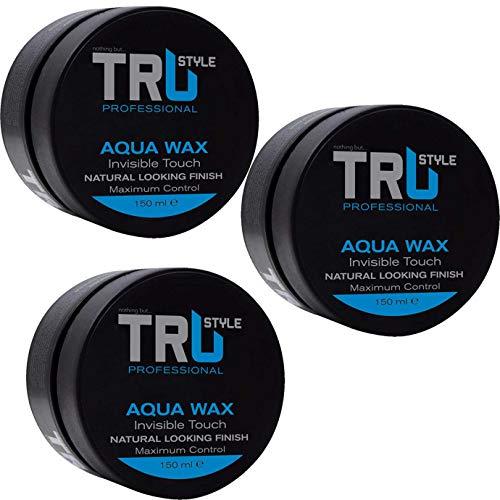3x Tru Professional Aqua Styling Haarwachs Blue Kaugummiduft, (3x 150ml)