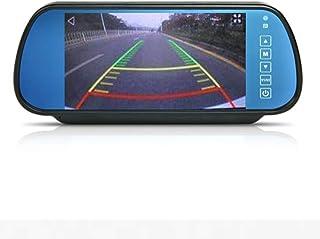 Cocar 7 Zoll Auto PKW Rückspiegel Display Monitor LCD TFT Einparkhilfe Bildschirm 800x480 für Rückfahrsystem Rückfahrkamera Frontkamera DVD Media Player 2 RCA Cinch Kanal