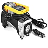 Air Compressor Pump, 12V LED Auto Air Compressor Pump Electrical Tire Tyre Inflator for Cars Bicycles Motorcycles SUV