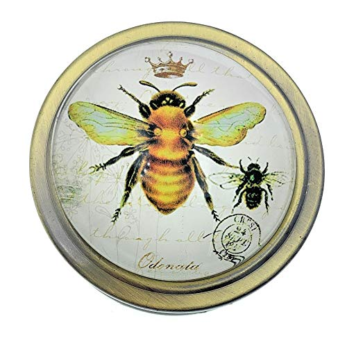 Value Arts Imperial French Honey Bee Folding Magnifying Glass Paperweight, 2.5 Inches Diameter