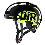 Uvex Kid 3 | Casco de Bicicleta | niña niño niños Adolescente | tamaño Adjustable | Dirtbike Black-Lime, 55-58 cm