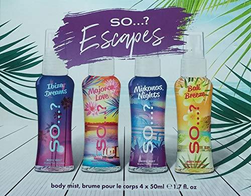 So.? 481927 Coffret cadeau Summer Escapes 4 brume corporelle 50 ml
