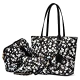 LOVEVOOK - Juego de bolsas para mujer, bolso de hombro, bolso de mano, bandolera grande, de diseño elegante, juego de 3 piezas, color, talla 3pcs Set
