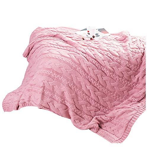 JINPENGRAN Manta Compuesta De Terciopelo De Cordero, Manta Agradable para La Piel, Suave Y Cálida, Cómoda, Terciopelo De Coral,Pink