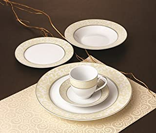 Royalty Porcelain 20-pc Dinner Set for 4, 24K Gold, Premium Bone China Porcelain (G1231-20)