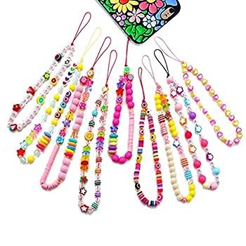 Phone Charm Strap Beaded Phone Charm for Women Teen Girls Y2K Phone Bracelet 4/5/9 PCS  9pcs-Color A