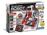 Clementoni- Robot Évolution, 52261, Blanc et Rouge