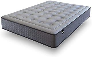 Tanuk ViscoGrafeno Platinum Muelles 135X190 Doble/Tamaño Completo Colchón de muelles - Colchones (300 mm, 1350 mm, 1900 mm, Doble/Tamaño Completo, Colchón de muelles, Gris)