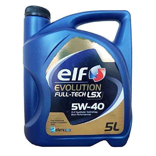 ELF EVOLUTION FULL TECH LSX 5W-40 5 litros Lubricante Sintético de altas prestaciones
