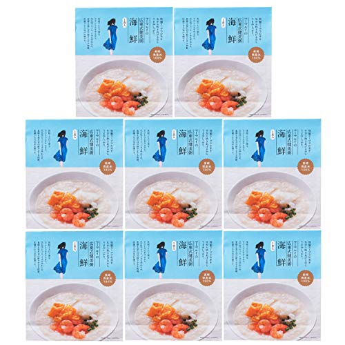 チャイデリカ 広東式健美粥 海鮮 粥300g 具材20g 8食 中華粥 おかゆ 惣菜 お粥 長崎