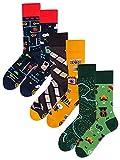 Many Mornings Unisex Socken Gaming Kamera Map - 3er Pack - 39-42