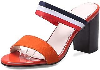 BalaMasa Womens AFL00296 Pu Block Heels