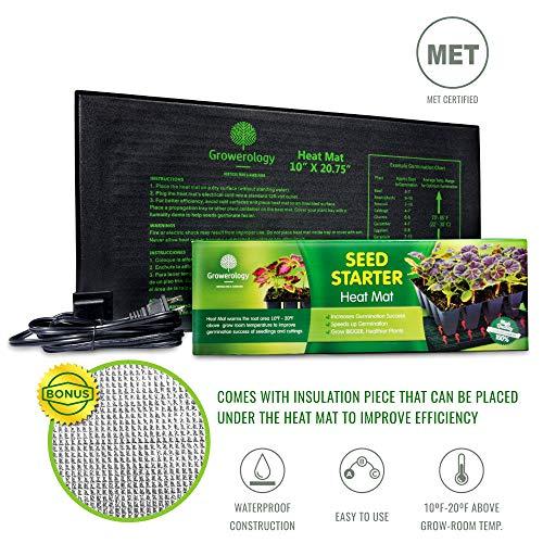 "10/""x20/"" Seed Starting Heat Mat Seed Cloning Heating Pad Garden Outdoor Living US"