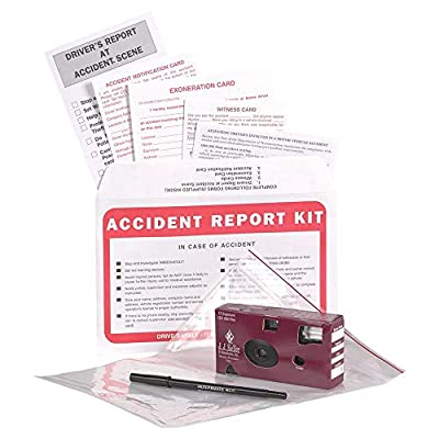 Vehicle Accident Kit in Poly Bag with 35mm Film Disposable Camera - J. J. Keller & Associates - Helps Drivers Collect, Organize & Report Vehicle Accident Information by J. J. Keller & Associates, Inc.